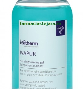 Ivatherm Ivapur gel spumant purifiant ten gras,acneic 500ml
