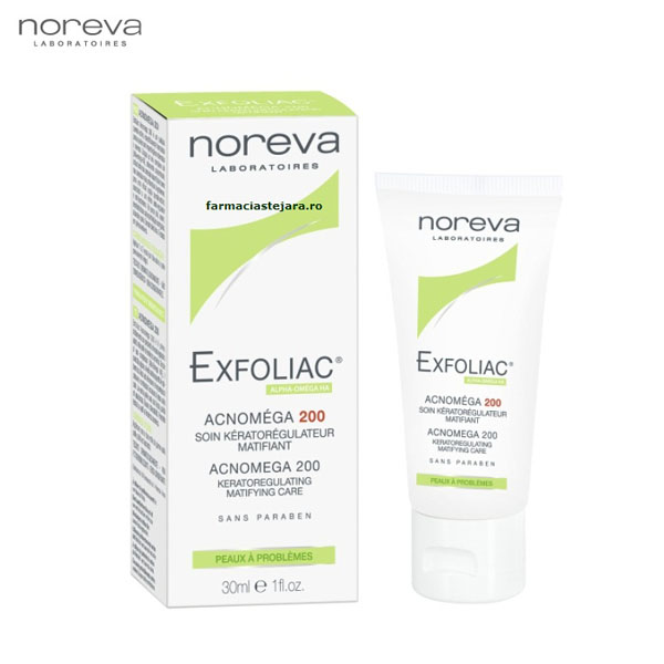 Noreva Exfoliac Acnomega 200-30 ml