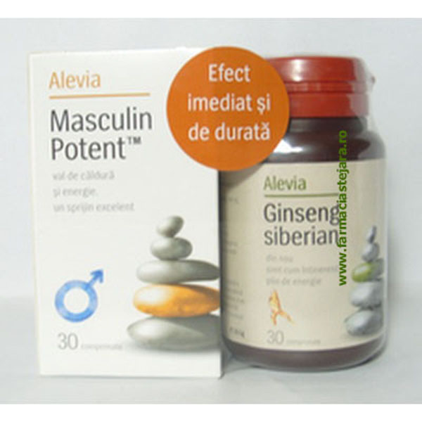 Alevia Masculin Potent*30 +Ginseng siberian*30 Comprimate