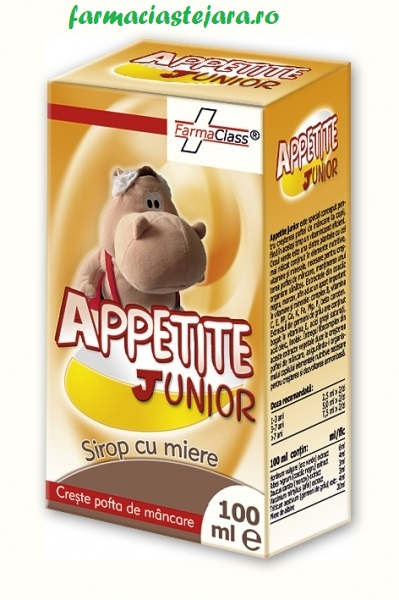 FarmaClass Appetite  junior  sirop  cu  miere