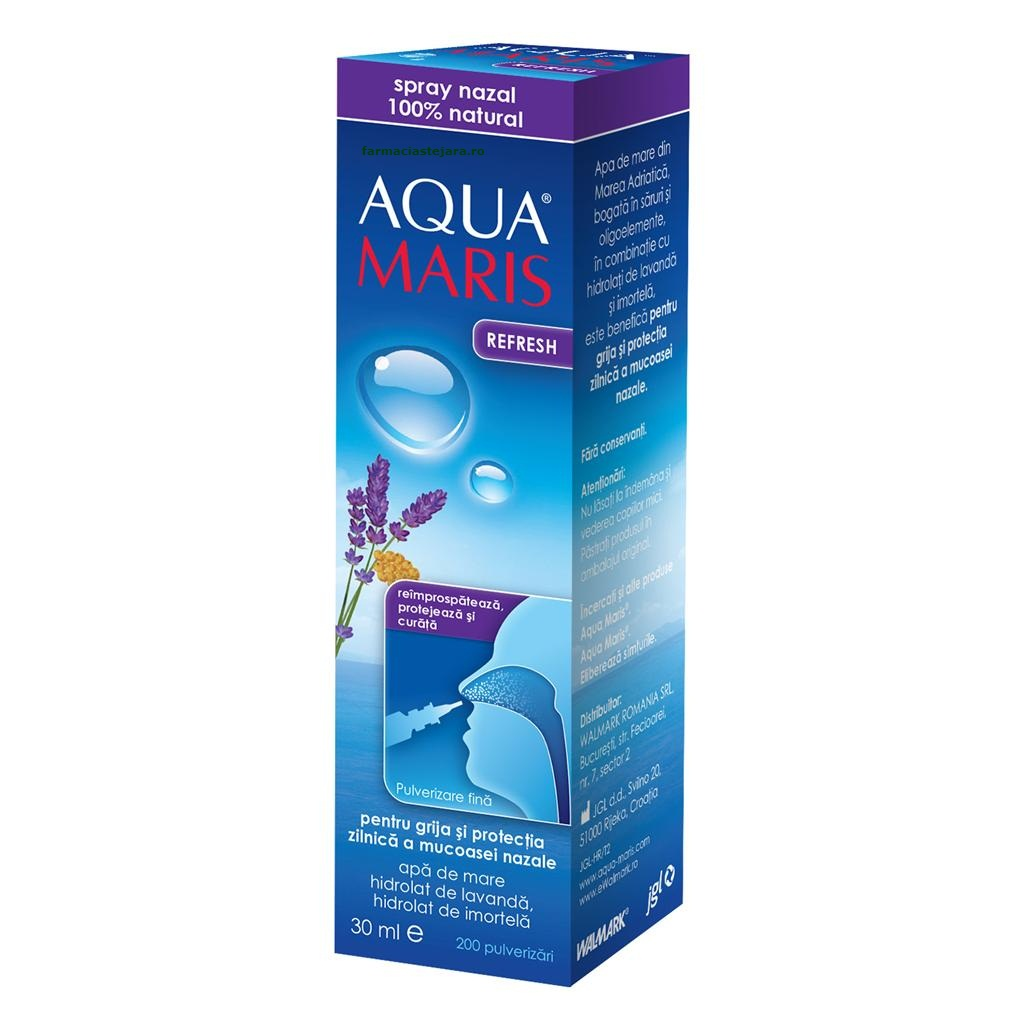 AquaMaris Refresh Spray nazal cu apa de mare 30 ml