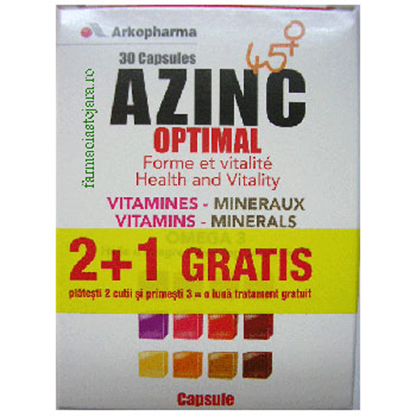 ArkoPharma AZINC Optimal 45+ 2+1 gratuit