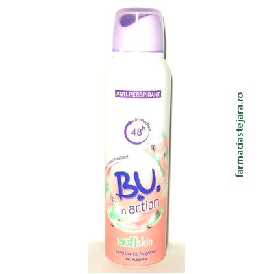 BU In action SoftSkin Spray antiperspirant