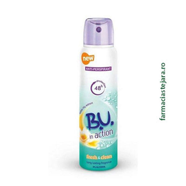 BU In action Fresh&Clean Spray antiperspirant