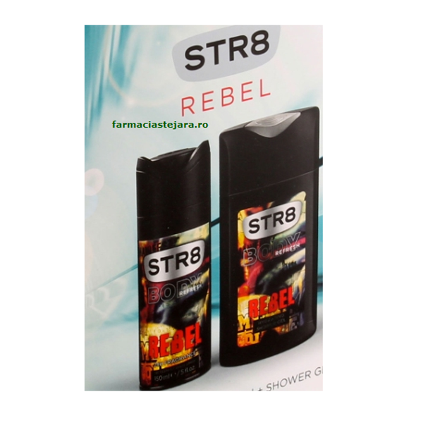 Cadou STR8 Rebel Deo-spray+Gel dus