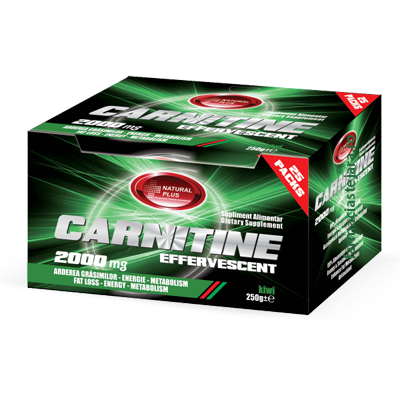 Natural Plus Carnitine 2000mg Efervescent x 25 Plicuri
