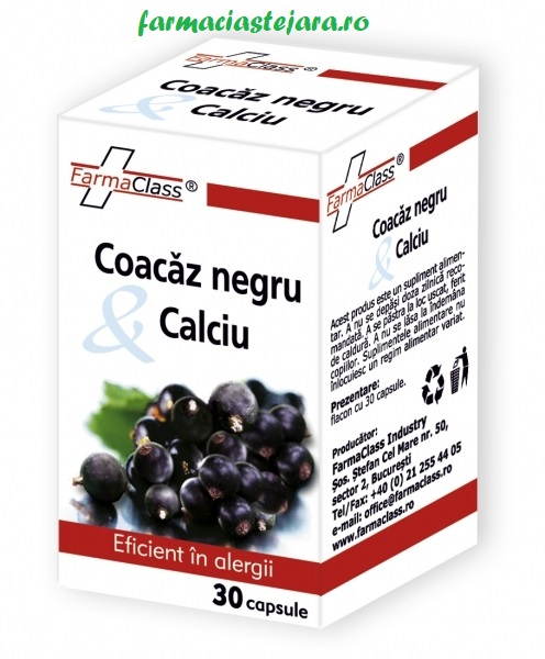 FarmaClass Coacaz negru&calciu antialergic x 30 capsule