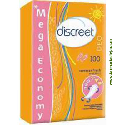 Discreet Multiform Summer Fresh ABsorbante zilnice *100 bucati