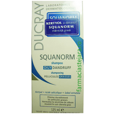 Ducray Squanorm sampon matreata grasa 125 ml