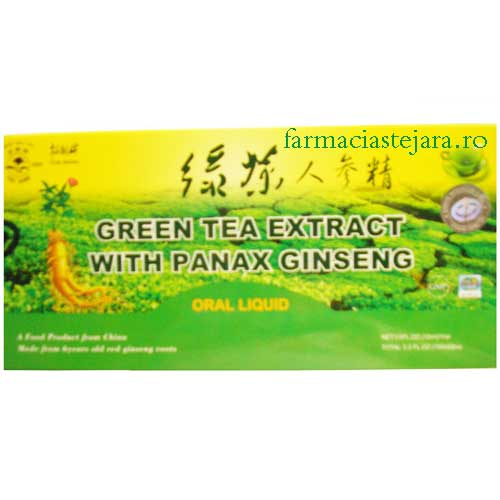 Extract de Ceai Verde si Panax Ginseng  fiole