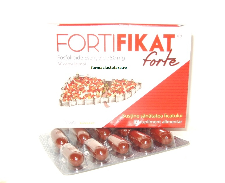 FortiFIKAT forte fosfolipide esentiale 750 mg X 30 capsule moi