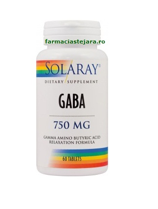 Solaray GABA 750 mg x 60 tablete