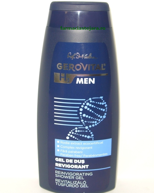 Farmec Gerovital H3 Men Gel de dus revigorant 400 ml