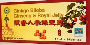 Extract de Ginkgo Biloba,Ginseng si Royal Jelly fiole buvabile
