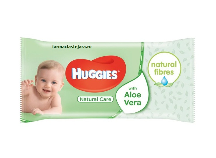 Huggies Natural Care Servetele Umede cu aloe