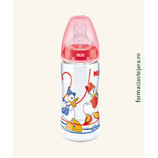 Nuk First Choice Biberon Donald Duck PP 300 ml marimea 2(6-18 lu