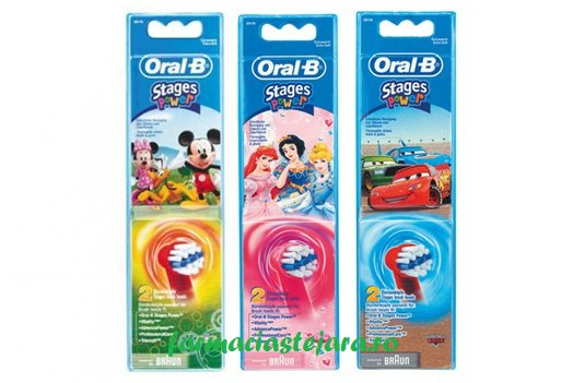 Oral-B Power Stages Capete-rezerva periuta dinti electrica copii