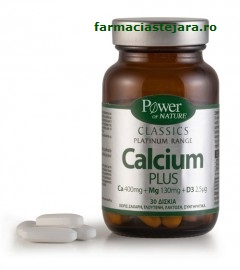 Calcium Plus Power of nature Classics Platinum x 30 tablete