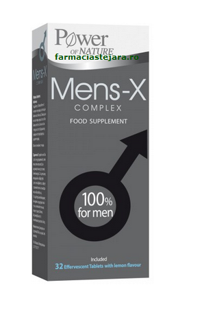 Mens-X Complex pentru barbati Power of nature x 32 tablete eferv