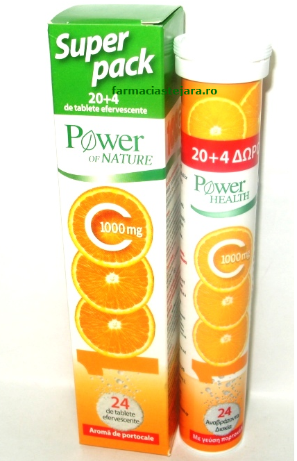 Vitamina C 1000mg Power of naturex 20 tablete efervescente