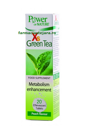 XS Green Tea Ceai Verde Power of naturex 20 tablete efervescente