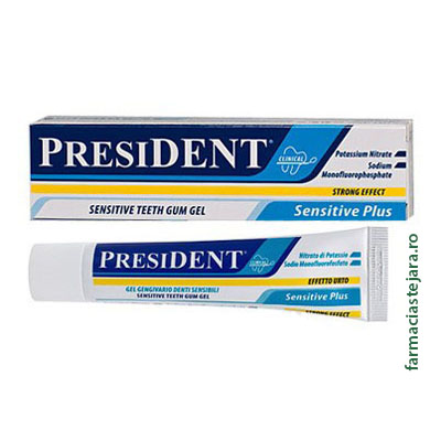 President Sensitive Plus Gel pentru gingii sensibile