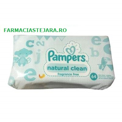 Pampers  Servetele  umede  baby  natural  clean  x 64
