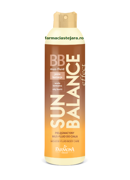 Farmona BB Mousse fluid colorant corp piele deschisa 150ml