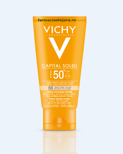 Vichy Capital Soleil BB Crema onctuasa colorata SPF50
