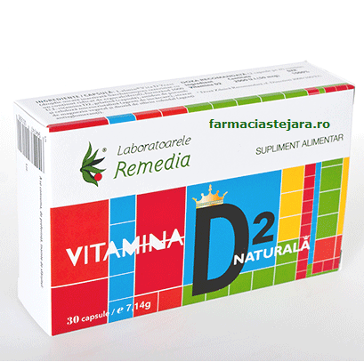 Lab.Remedia Vitamina D2 naturala x 30 capsule