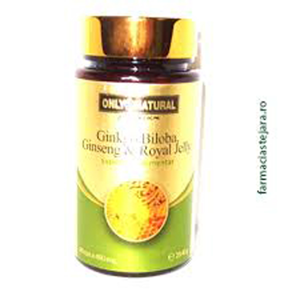 Ginkgo Biloba+Ginseng&Royal Jelly x 60 Capsule Only Natural