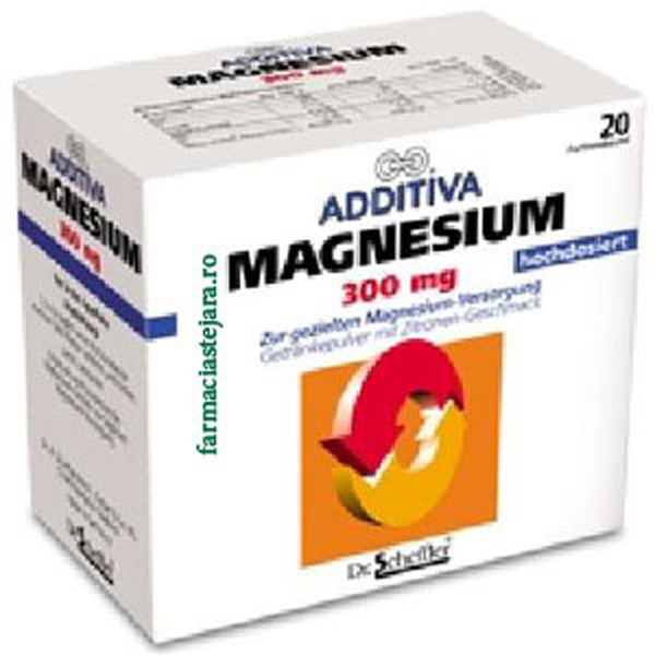 Additiva Magneziu 300 mg X 20 pliculete