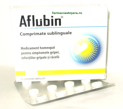 Aflubin homeopat comprimate sublinguale  antigripale X 12