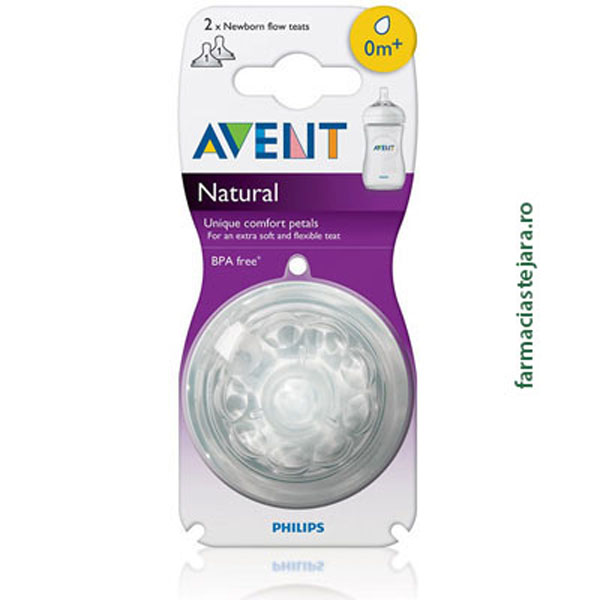 Avent Natural Tetina x 1 orificiu