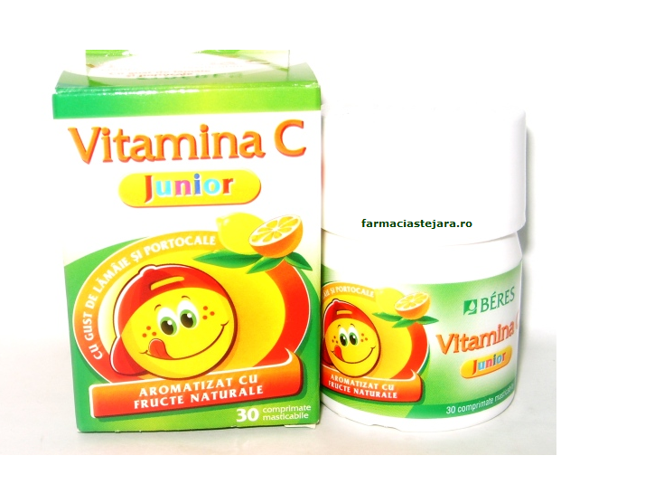 Beres Vitamina C Junior 50mg x 30 comprimate masticabile