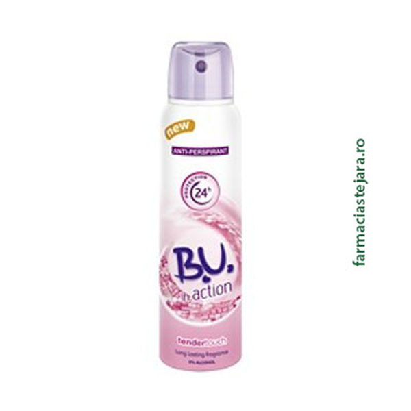 BU In action TenderTouch Spray antiperspirant