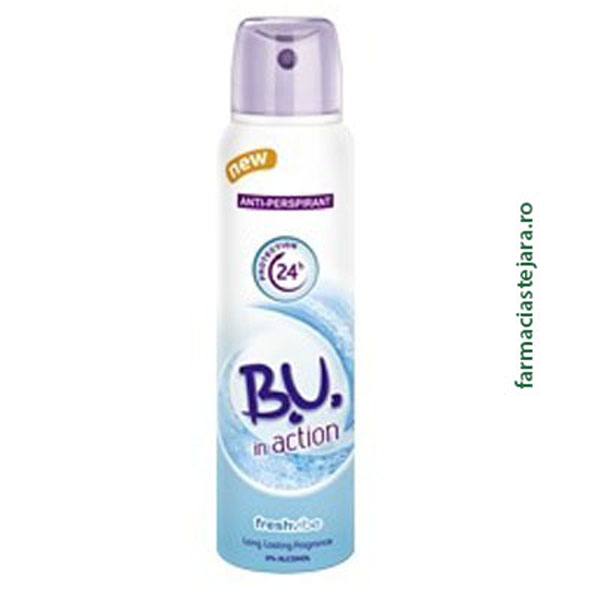 BU Deo In action Fresh Vibe Spray antiperspirant