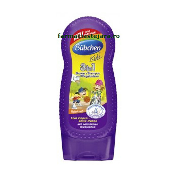 Bubchen Kids 3in1 Sampon,Gel de dus si balsam par copii