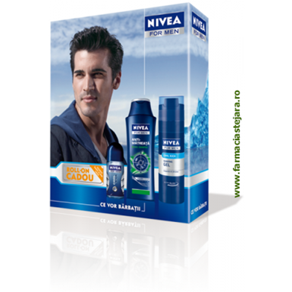 Cadou Nivea Men Sampon&Gel de ras&Deo roll-on