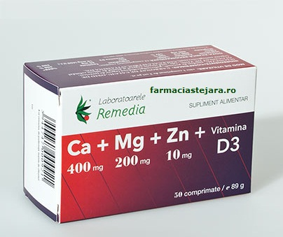 Lab.Remedia Ca+Mg+Zn+D3 Comprimate X 50