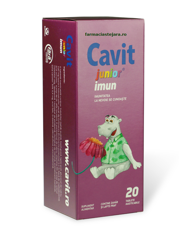Cavit Junior Imun tablete masticabile
