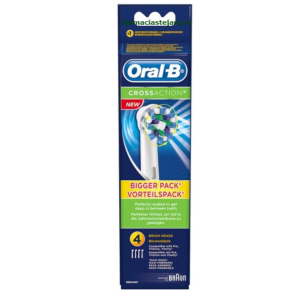 Oral-B Capete rezerve CrossAction pentru periuta electrica x 4