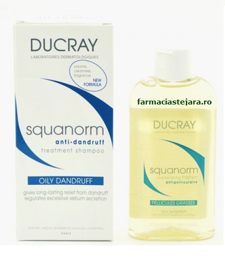 Ducray Squanorm sampon matreata grasa 200 ml