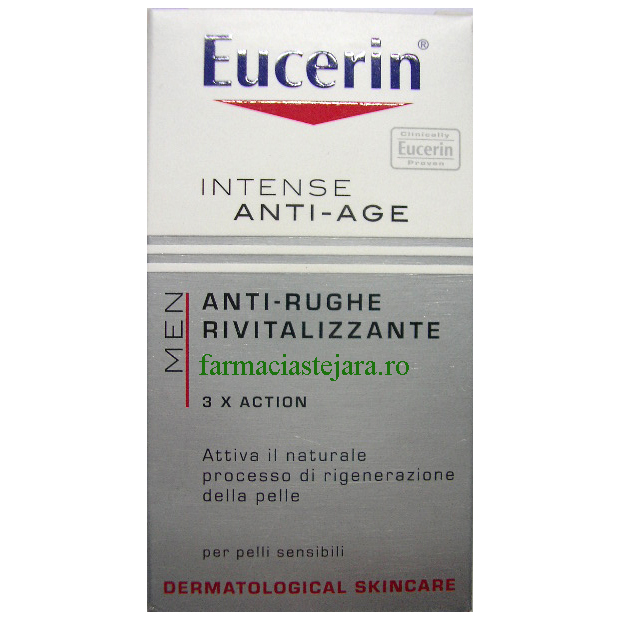 Eucerin Men Crema  anti-rid cu Q10 si  Acid  Hialuronic