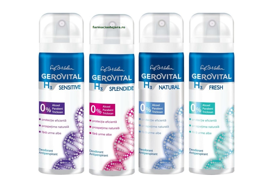 Farmec Gerovital H3-Deodorant mini femei 40ml