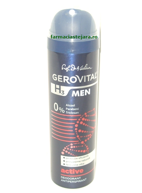Farmec Gerovital H3 Men Active Deodorant spray
