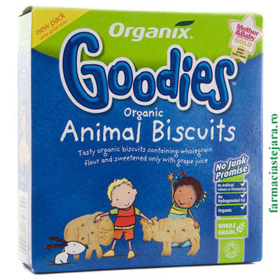 Organix  Biscuiti Bio Goodies  in forma de animale + 12 luni
