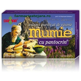 Damar  Mumie Extract purificat de rasina cu pantocrin x 30 table