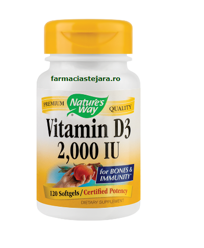 Nature's Way Vitamina D3 2000UI x 30 capsule moi