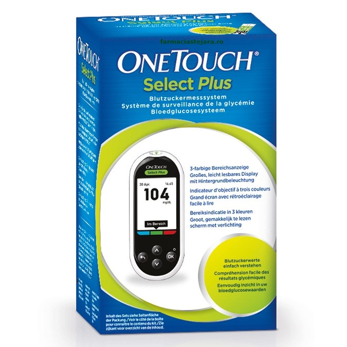 Glucometru One Touch Select Plus-Sistem monitorizarea glicemiei